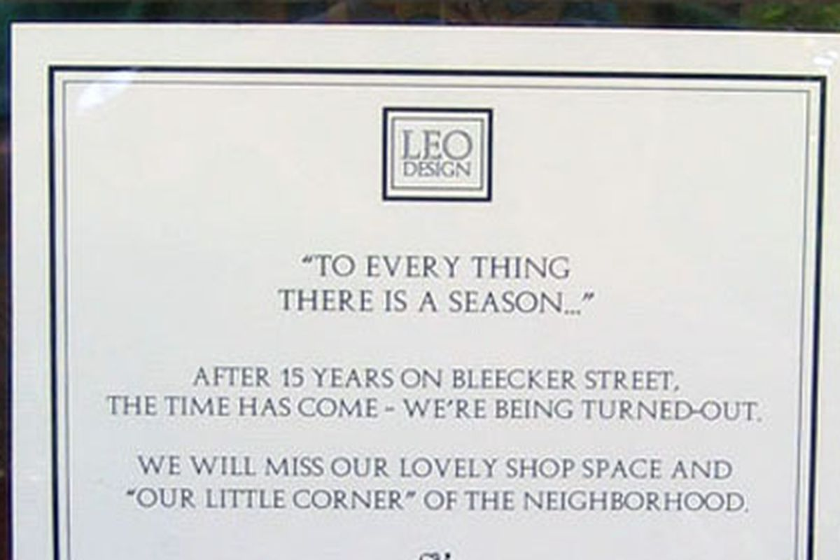 """Image via <a href=""""http://theshophound.typepad.com/the_shophound/2010/05/upcoming-relocations-leo-design-gets-booted-off-bleecker.html?utm_source=feedburner&amp;utm_medium=feed&amp;utm_campaign=Feed%3A+TheShophound+%28The+Shophound%29&amp;utm_conten"""