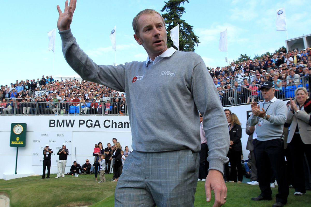 VIRGINIA WATER, ENGLAND - MAY 29:  Leading PGA professional Matt Morris of England also pitched zero innings in the 2002 MLB All-Star Game.