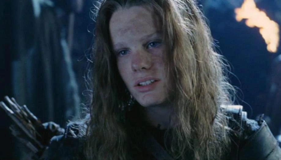 a boy with long hair