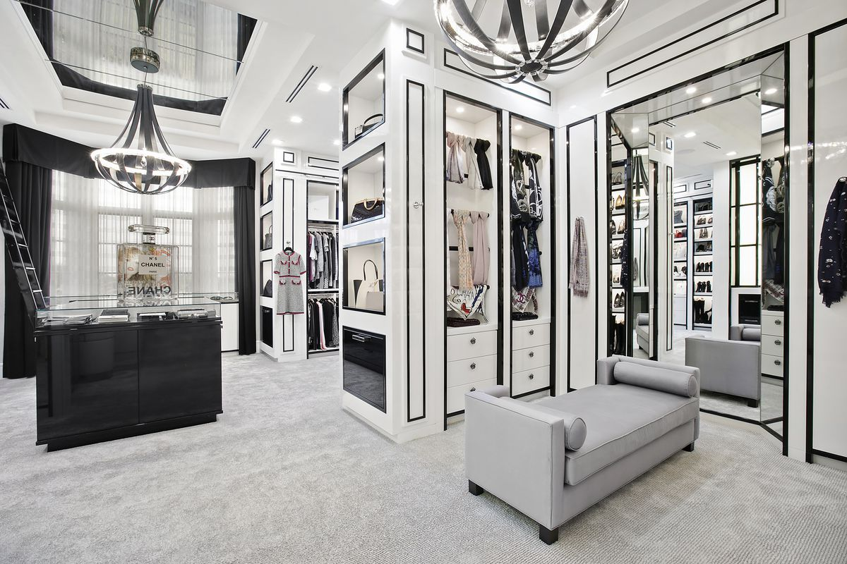 This delray beach estate listed for 20m includes a chanel for Inspired closets
