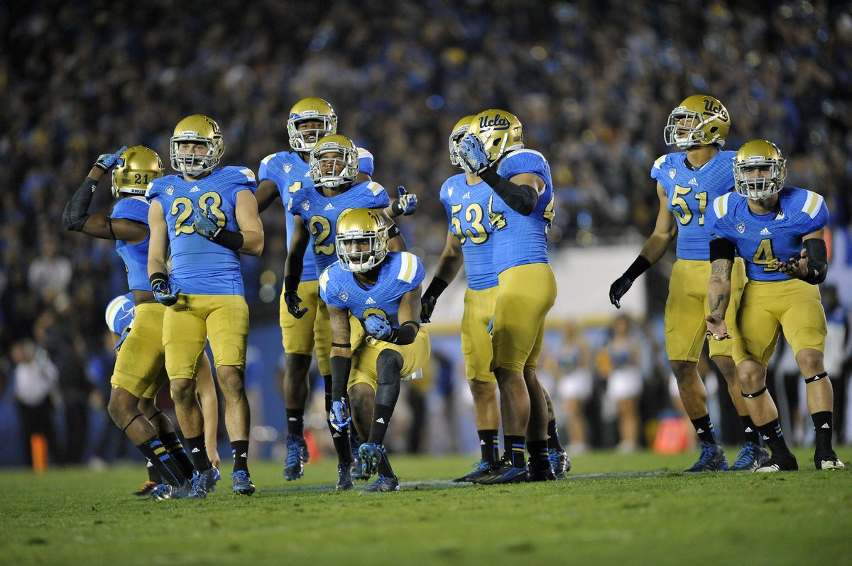 fc8fe4df8 Impossible to mess up ... right  These are the uniforms Adidas is making  UCLA wear this year