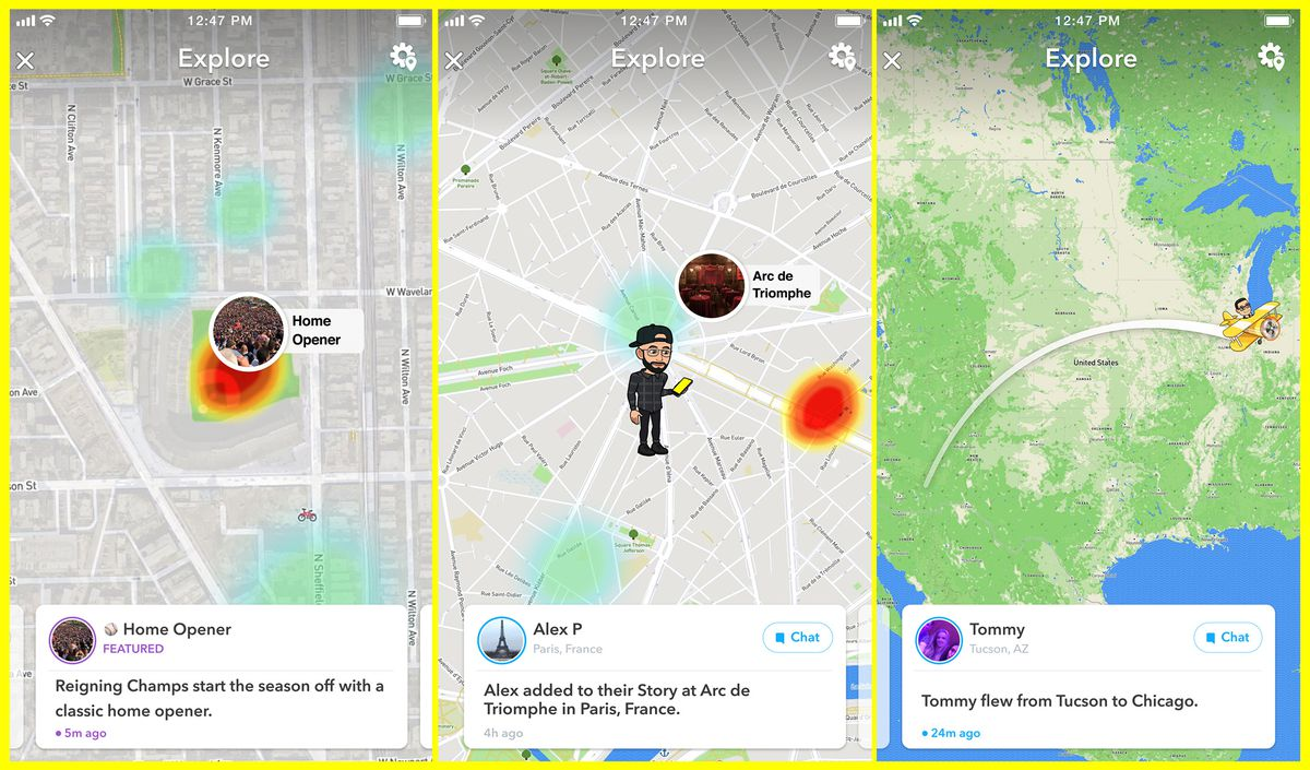Snapchat's Map Explore feature will let you know when your