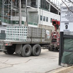 Truck entering the work gate on Sheffield