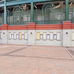"""Ticket windows have had the """"TICKETS"""" signs removed"""