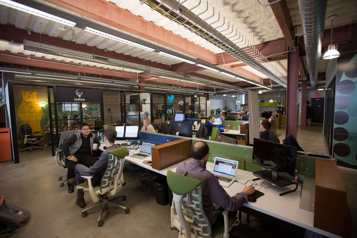 Tech startups, investors and outposts for companies like Twitter cluster at the Madison Building.