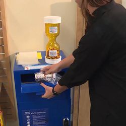 Unused prescription drugs are discarded at Intermountain Healthcare's Salt Lake Clinic on Tuesday, Aug. 22, 2017. Intermountain Healthcare is working to reduce the number of opioid tablets its hospitals and clinics prescribe by 40 percent by the end of 2018.