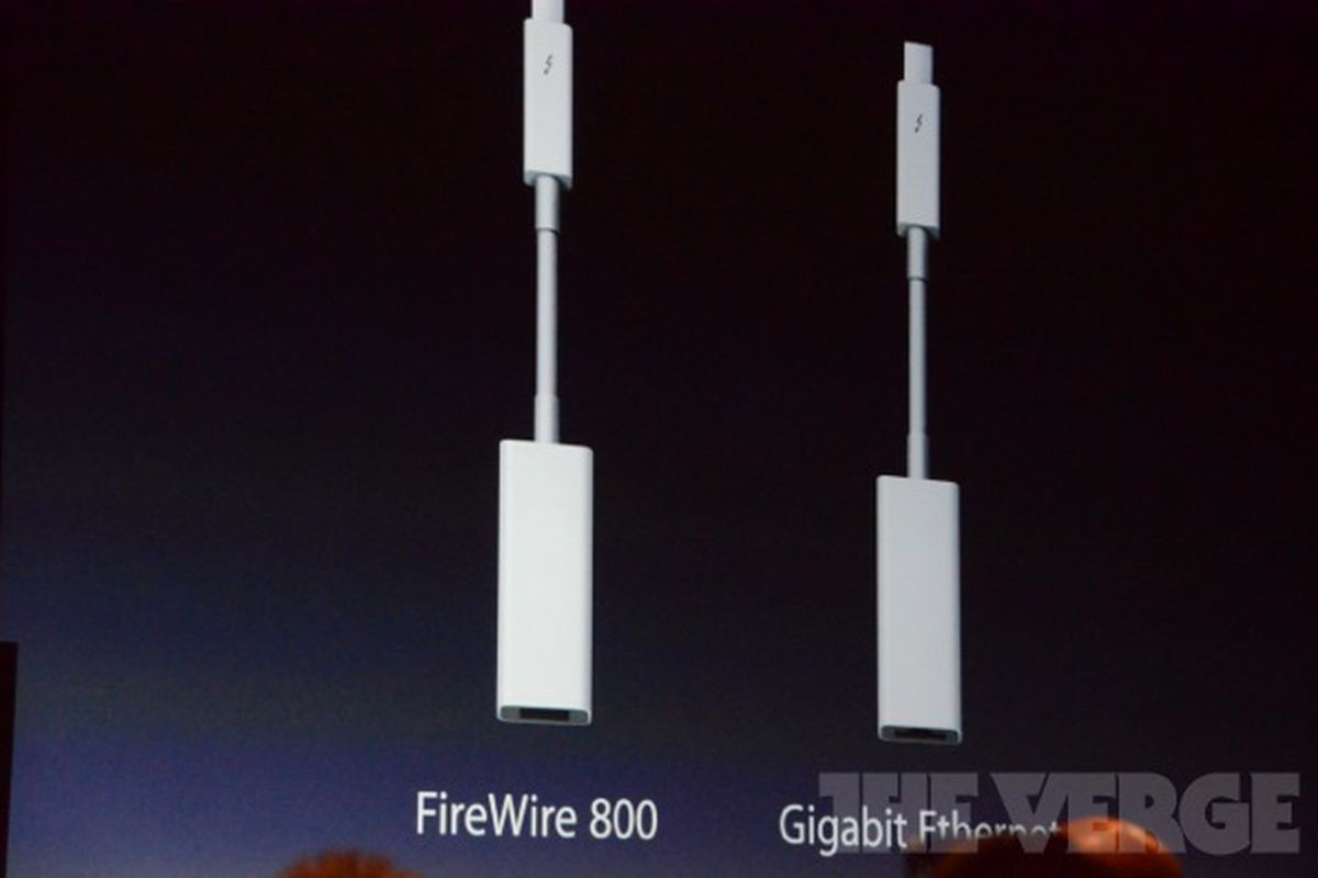 Apple adds Thunderbolt adapters: FireWire 800 and Gigabit Ethernet ...