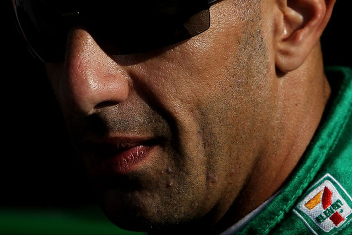It's been a rough off-season for Tony Kanaan, who may face the prospect of limited - or no - track time in 2011. (Photo by Nick Laham/Getty Images)
