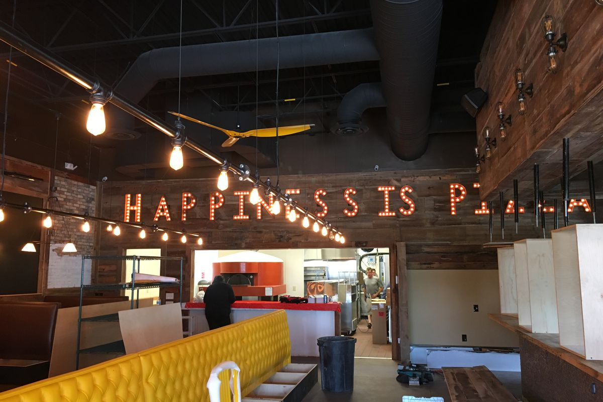 Happiness is pizza.