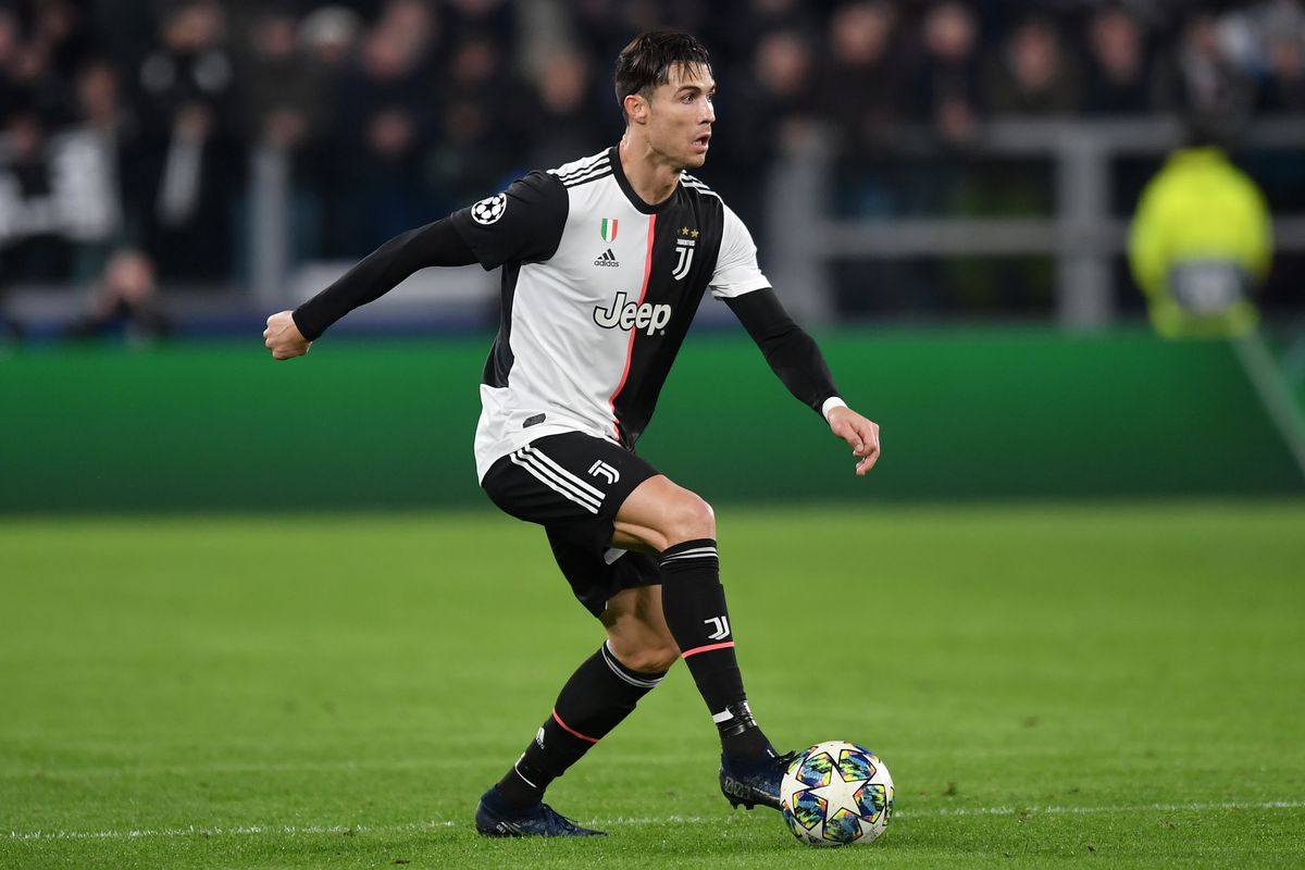 Cristiano Ronaldo of Juventus in action during the champions...