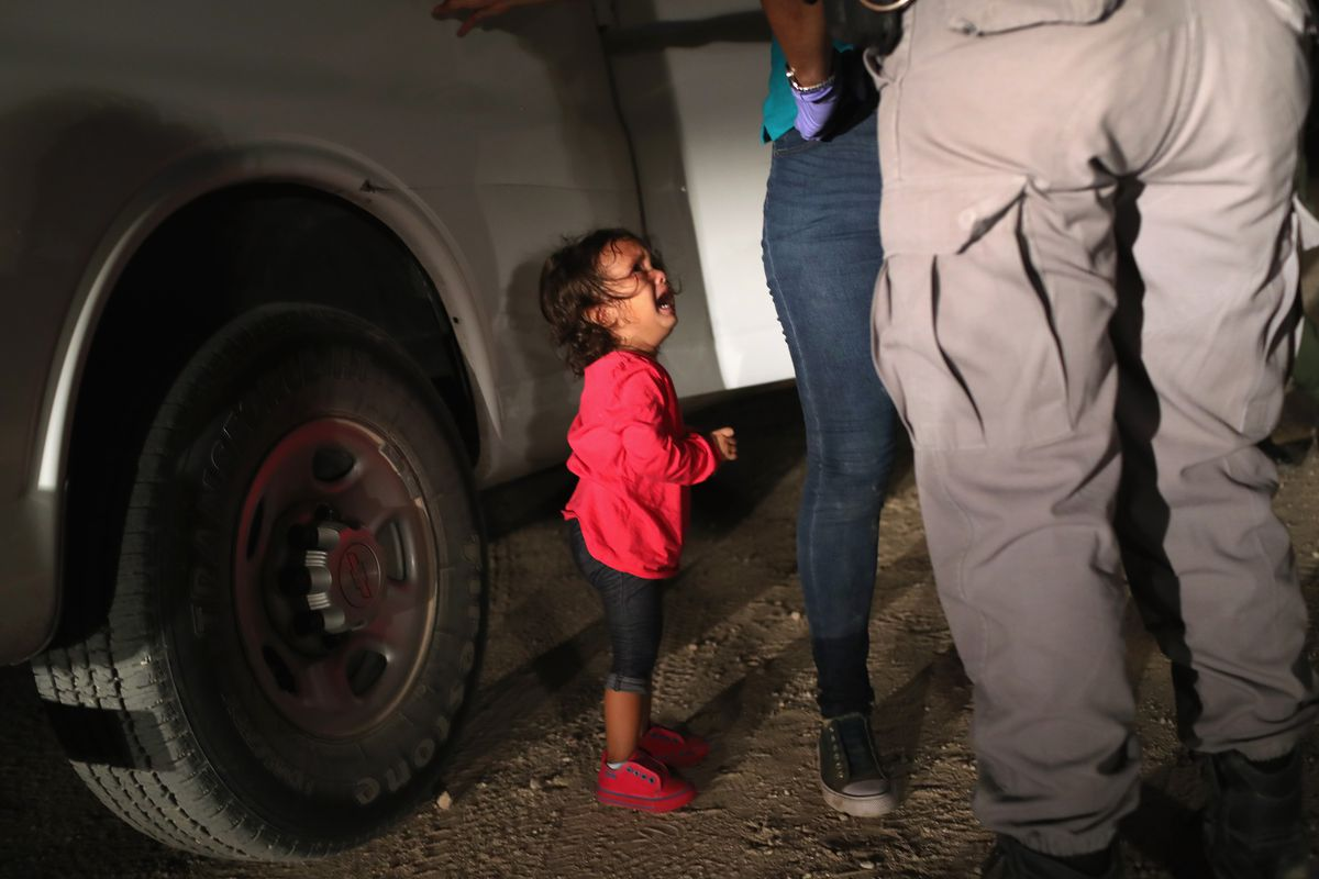 Family Separation At The Border Donald Trump And The Triumph Of  Twoyearold Honduran Asylum Seeker Cries As Her Mother Is Searched And  Detained Near The Usmexico Border On June   In Mcallen Texas
