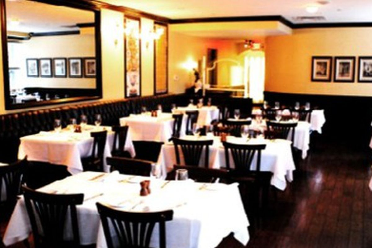 One of the private dining rooms at French American Brasserie.