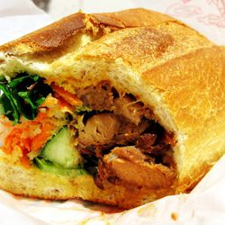 """Lin-Sanity Banh Mi at JoJu by <a href=""""https://www.flickr.com/photos/wwny/11789528886/in/pool-eater/"""">wEnDaLicious"""