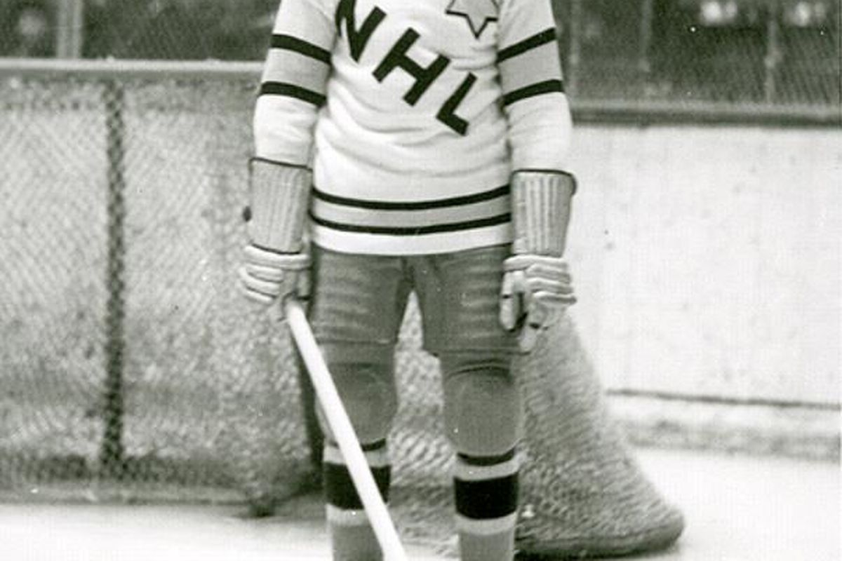 """<strong>Howie Morenz, The Stratford Streak. </strong>via <a href=""""http://upload.wikimedia.org/wikipedia/commons/c/cd/Morenz1934ASGa.jpg"""">upload.wikimedia.org</a>, Copyright expired."""
