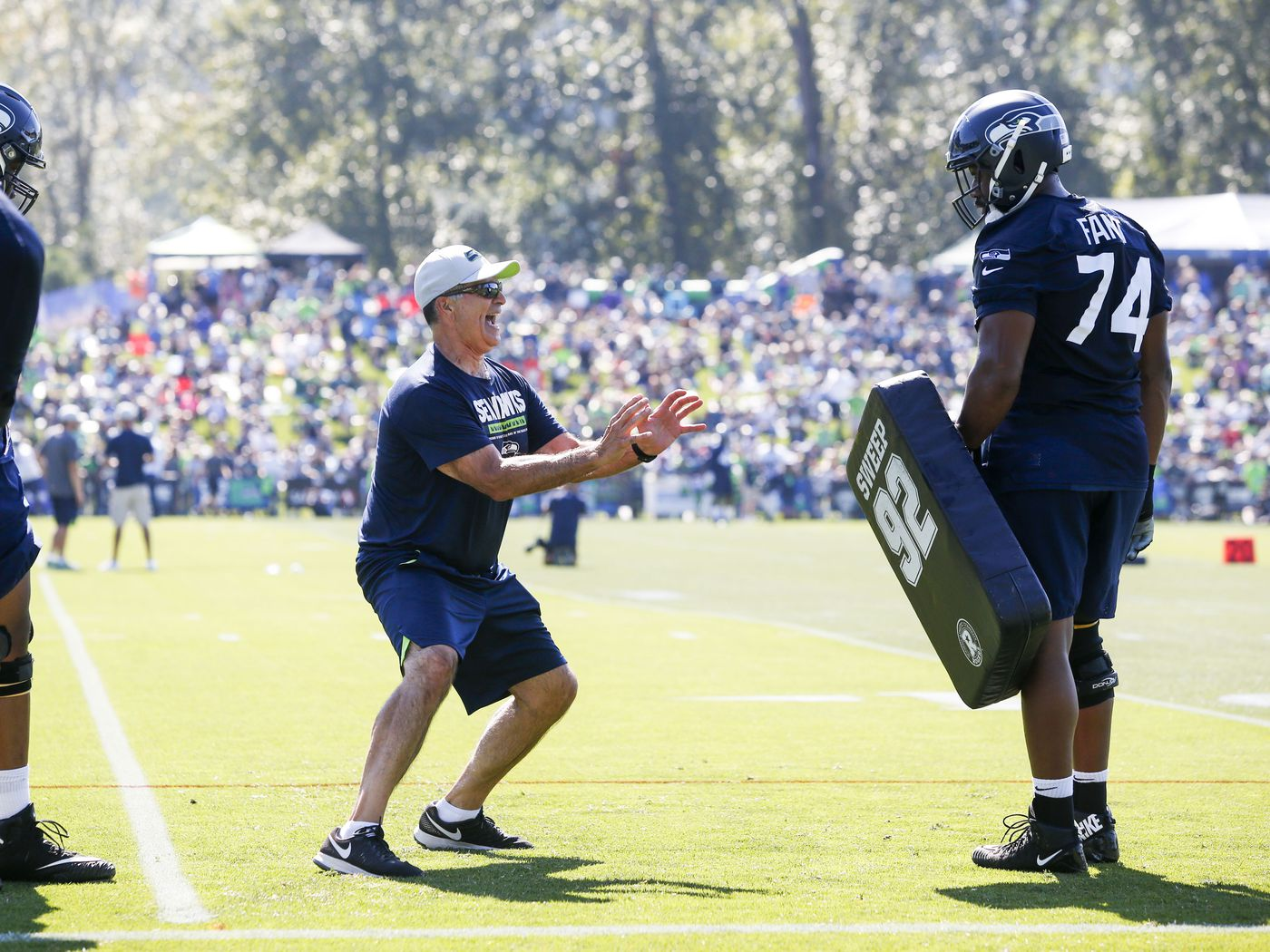 c9d619c979ba8 Seattle Seahawks Training Camp 2018  News and notes from day 10 - Field  Gulls