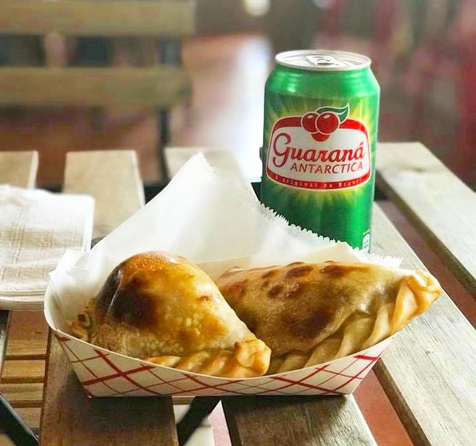 Empanadas and soda at Cafe Nenai