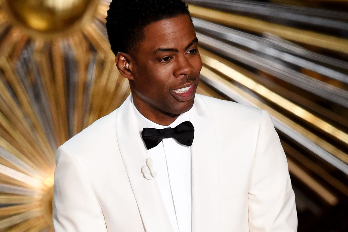 Host Chris Rock speaks onstage during the 88th Annual Academy Awards at the Dolby Theatre on February 28, 2016, in Hollywood, California.