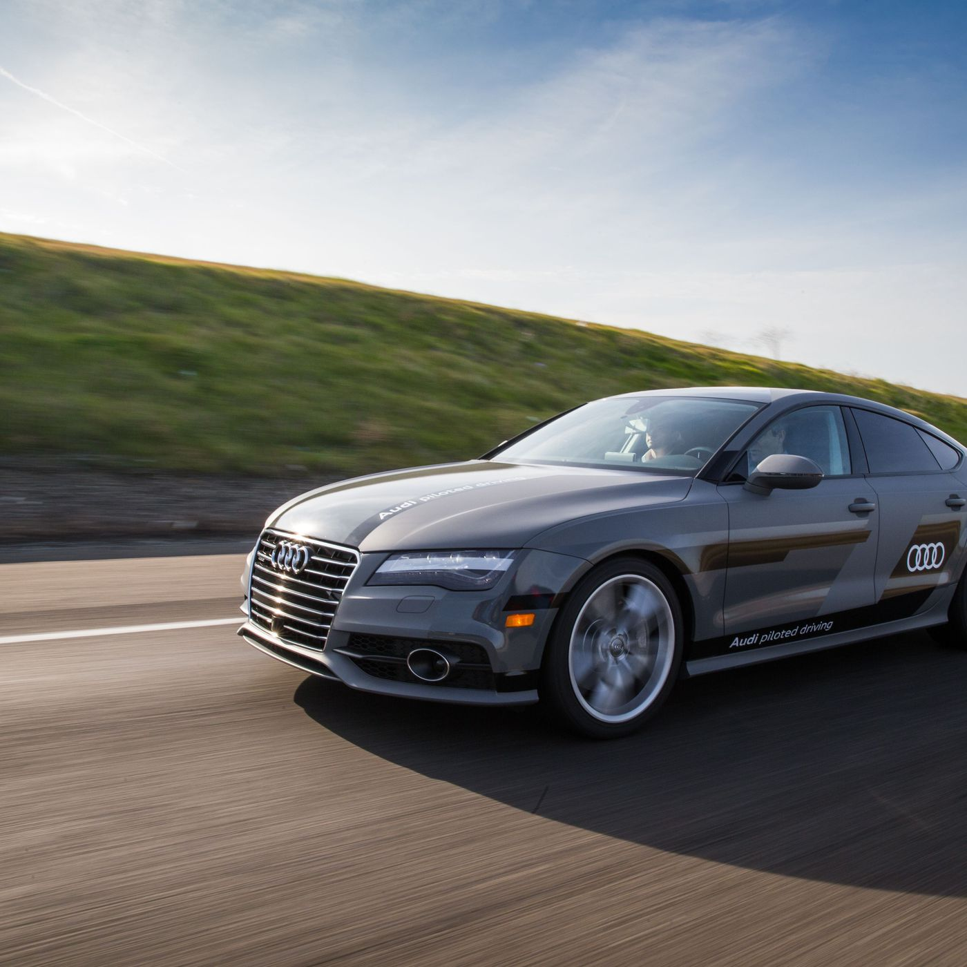 Audi s A7 Sportback is driving itself more than 550 miles to CES