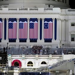 Preparations continue for the inauguration of President-elect Donald Trump at the U.S. Capitol in Washington, D.C., on Thursday, Jan. 19, 2017.
