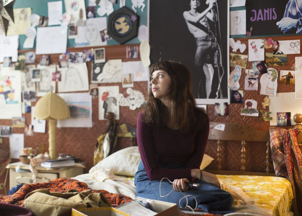 Minnie in her bedroom in The Diary of a Teenage Girl.