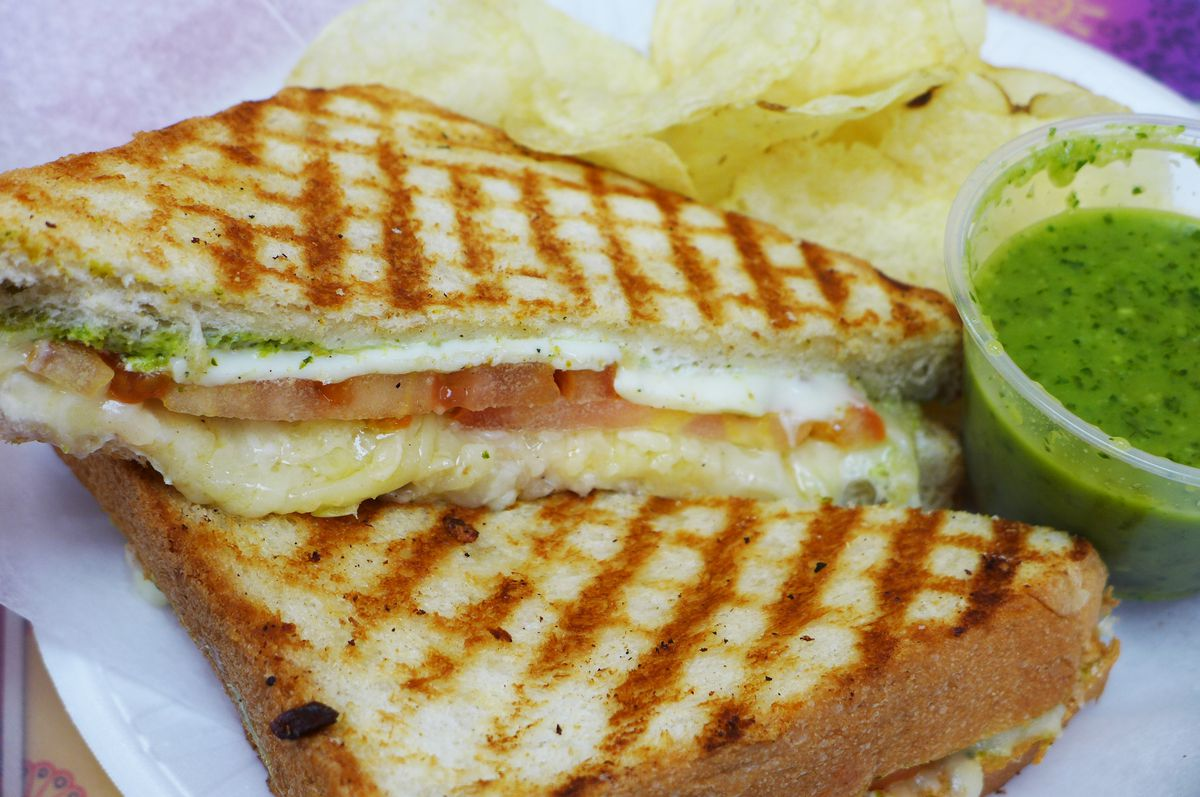 The cross hatched sandwich at USHA
