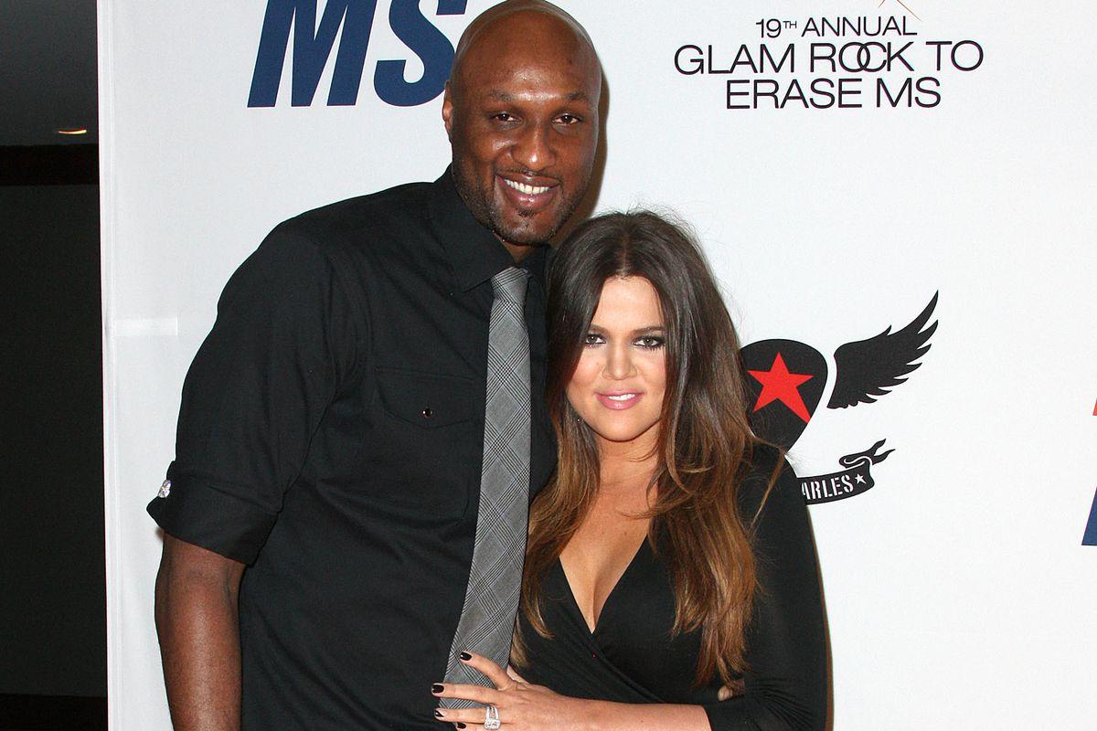 Basketball star Lamar Odom and ex-wife Khloé Kardashian.