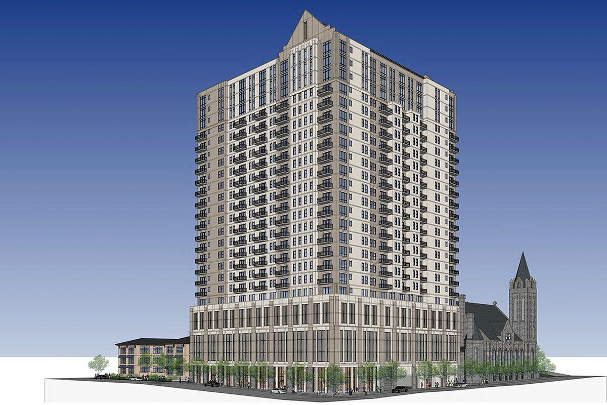 The tower proposal in Midtown.