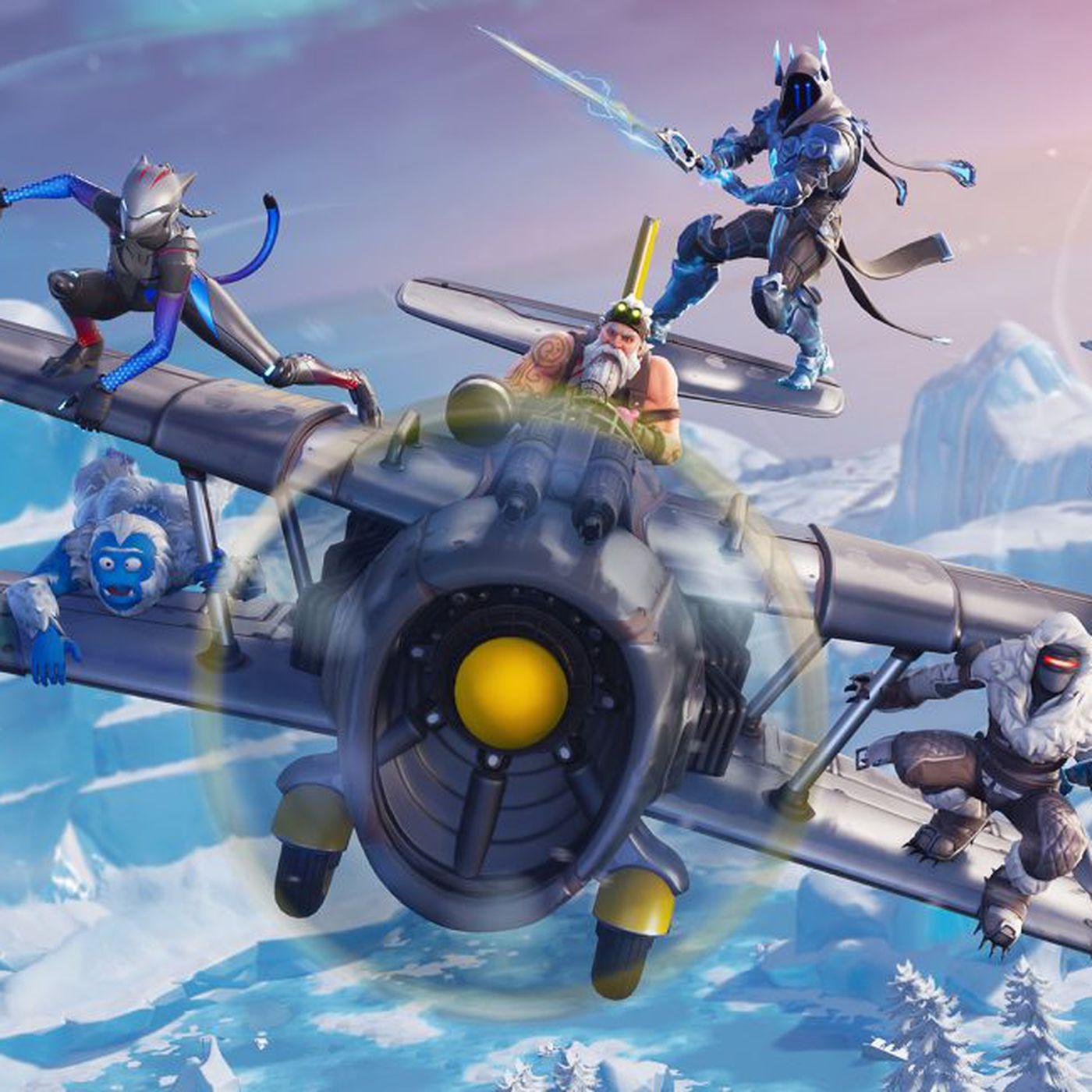 fortnite season 7 arrives with santa planes and lots of snow the verge - fortnite season 7 santa skin