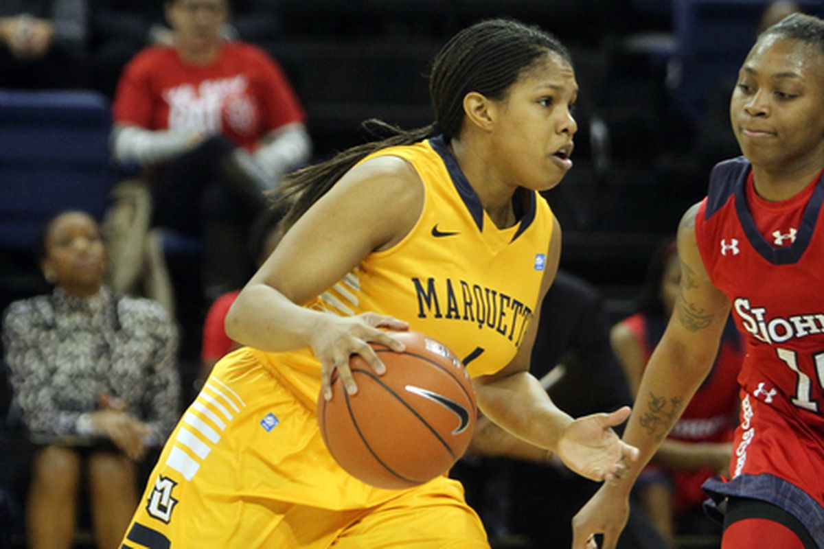 Arlesia Morse was perfect behind the arc & finished with 26 points, but it wasn't enough for Marquette against Wake Forest.