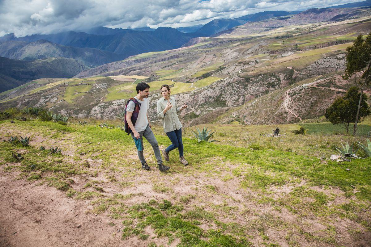Virgilio Martínez and Malena Martínez walk in Peru