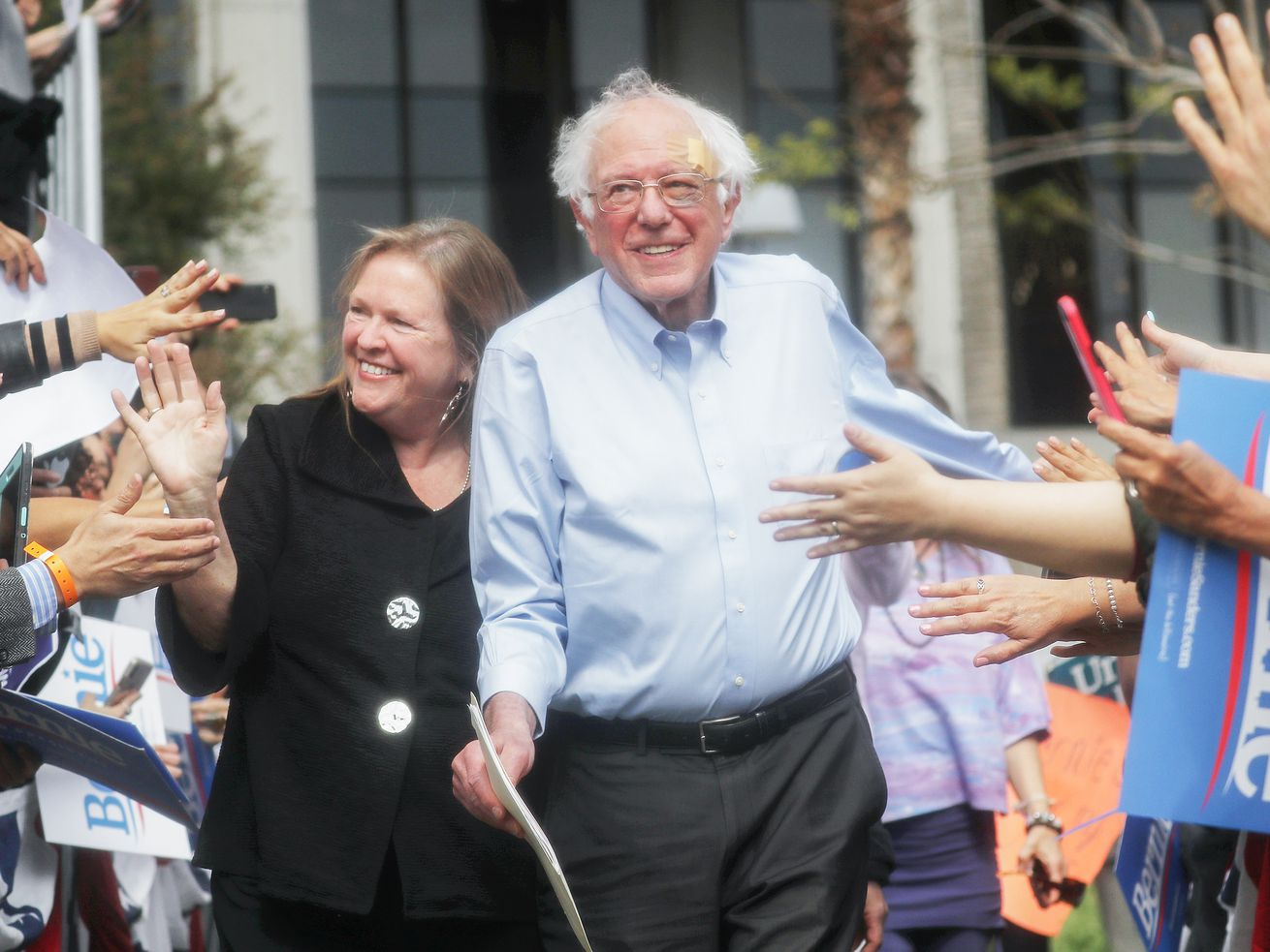 Democratic presidential candidate Sen. Bernie Sanders leads the 2020 Democratic primary field in fundraising.