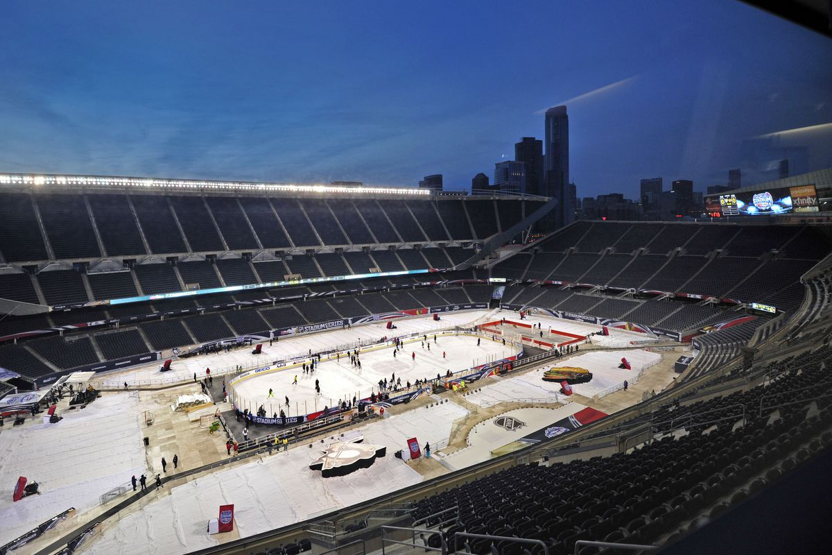 A day where Soldier Field had good ice (Not tonight)