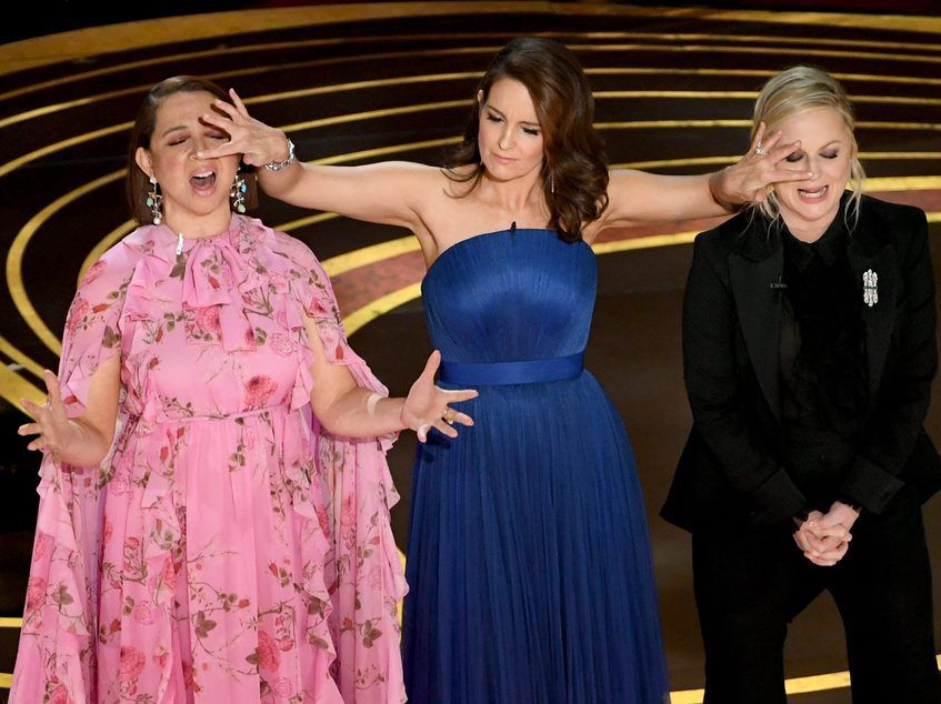 Maya Rudolph, Tina Fey and Amy Poehler speak onstage during the 91st Annual Academy Awards at Dolby Theatre on February 24, 2019 in Hollywood, California.   Kevin Winter/Getty Images