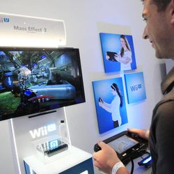 Nintendo's Wii U GamePad and console are unveiled, Thursday, Sept. 13, 2012 in New York. The gaming console will start at $300 and go on sale in the U.S. on Nov. 18, in time for the holidays, the company said Thursday.