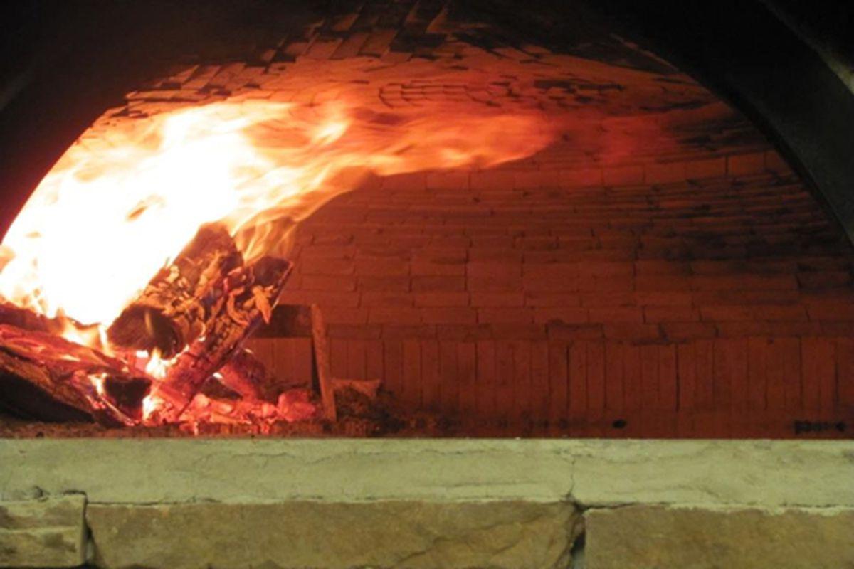 The brick oven at Fuoco di Napoli.