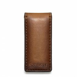 """<strong>Coach</strong> Bleecker Legacy Money Clip in Fawn Leather, <a href=""""http://www.coach.com/online/handbags/Product-bleecker_legacy_money_clip_in_leather-10551-10051-74498-en?cs=fwn&catId=5000000000000328825&navCatId=90"""">$48</a>"""