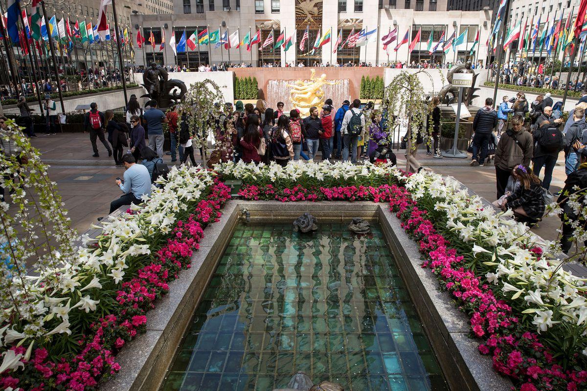 New York's Rockefeller Center Decorated For Easter