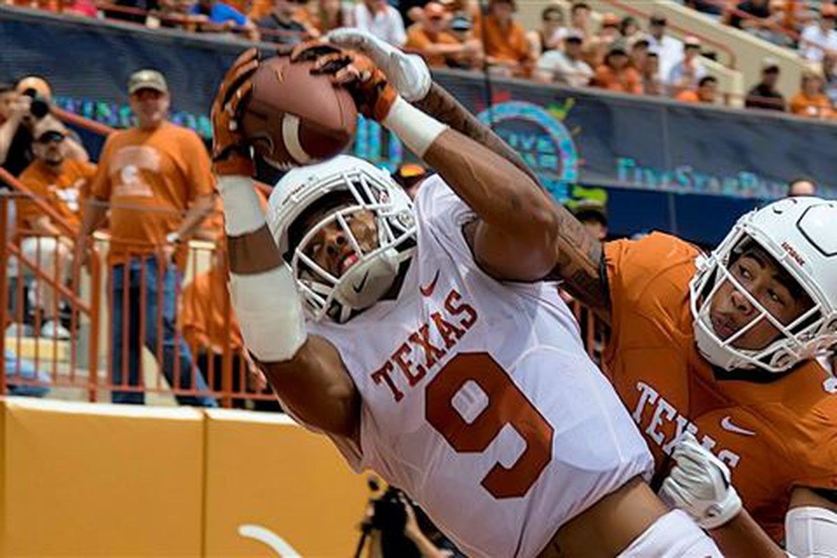 WATCH: Highlights from the Texas Orange-White game - Burnt ...