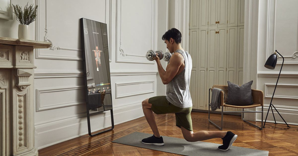 Mirror launches live training sessions that let coaches see you at home