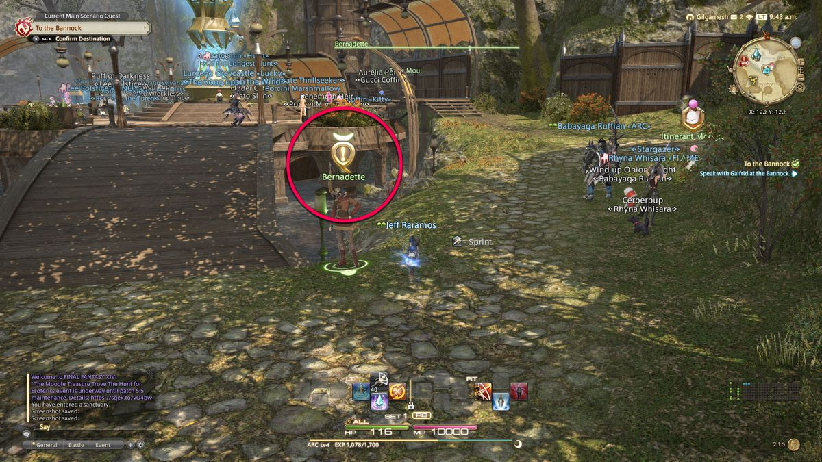 The side quest icon in Final Fantasy 14