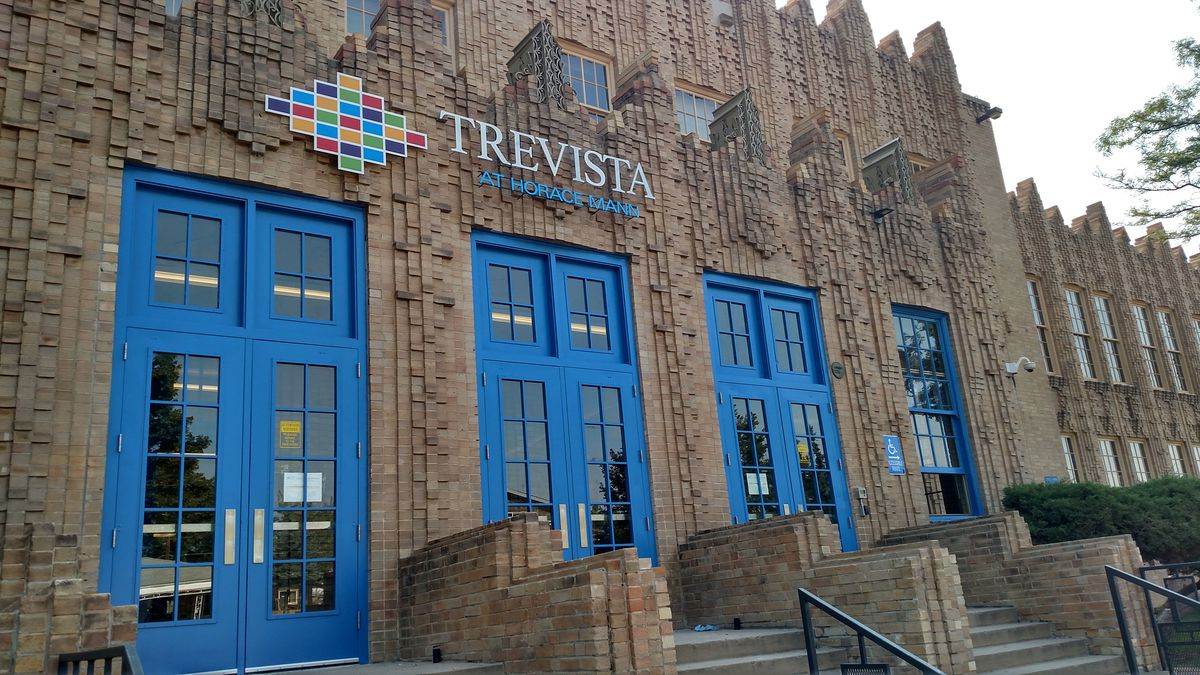 """The rallying crying for the Trevista community is """"Destination Blue"""" (photo by Eric Gorsk)."""