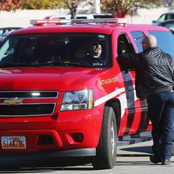 Fire and police officials respond to Mountain View High School in Orem after five students were stabbed in an apparent attack by a 16-year-old boy on Tuesday, Nov. 15, 2016.
