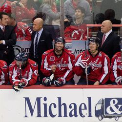 Brouwer and Backstrom Smile on Bench