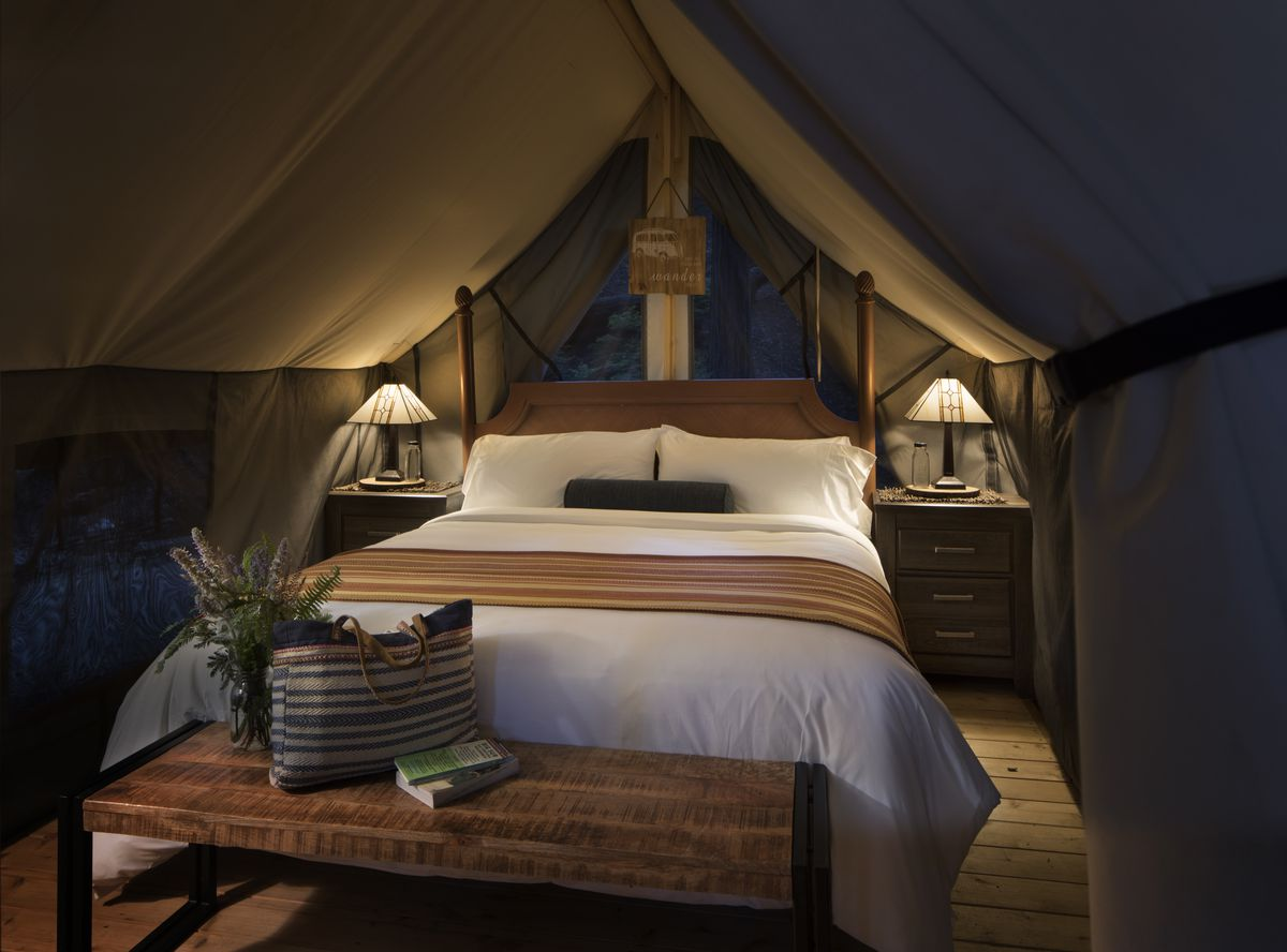 A Modern Hotel Room Set Inside Tent At Ventana Courtesy Of Sur