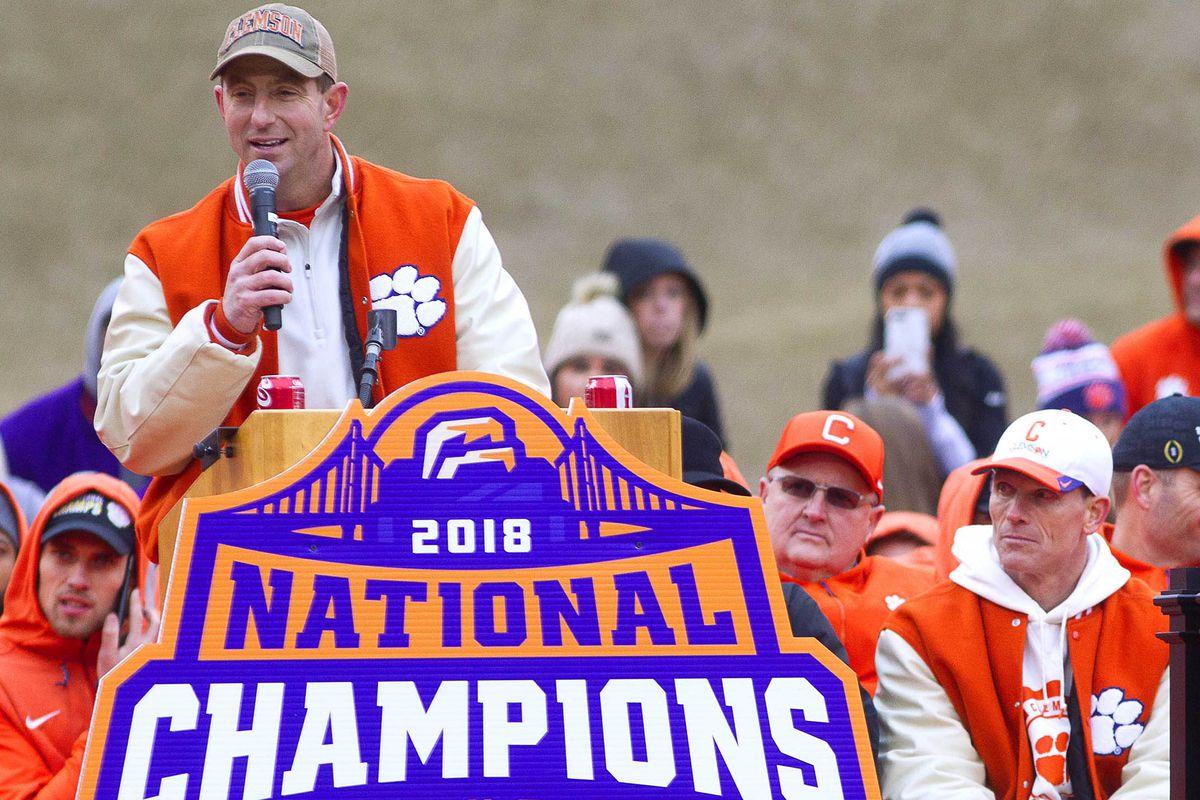 NCAA Football: College Football Playoff National Championship-Clemson Celebration