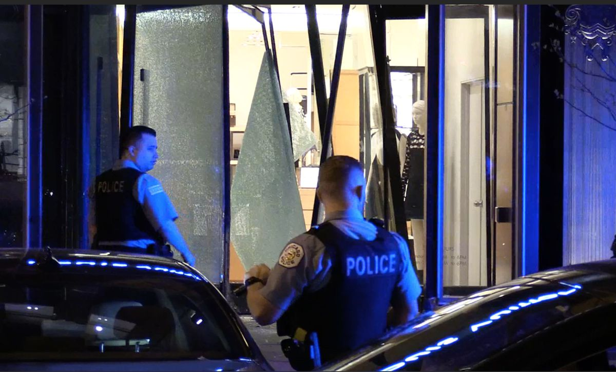 No injuries were reported in the Louis Vuitton smash-and-grab burglary early Monday.   Network Video Productions