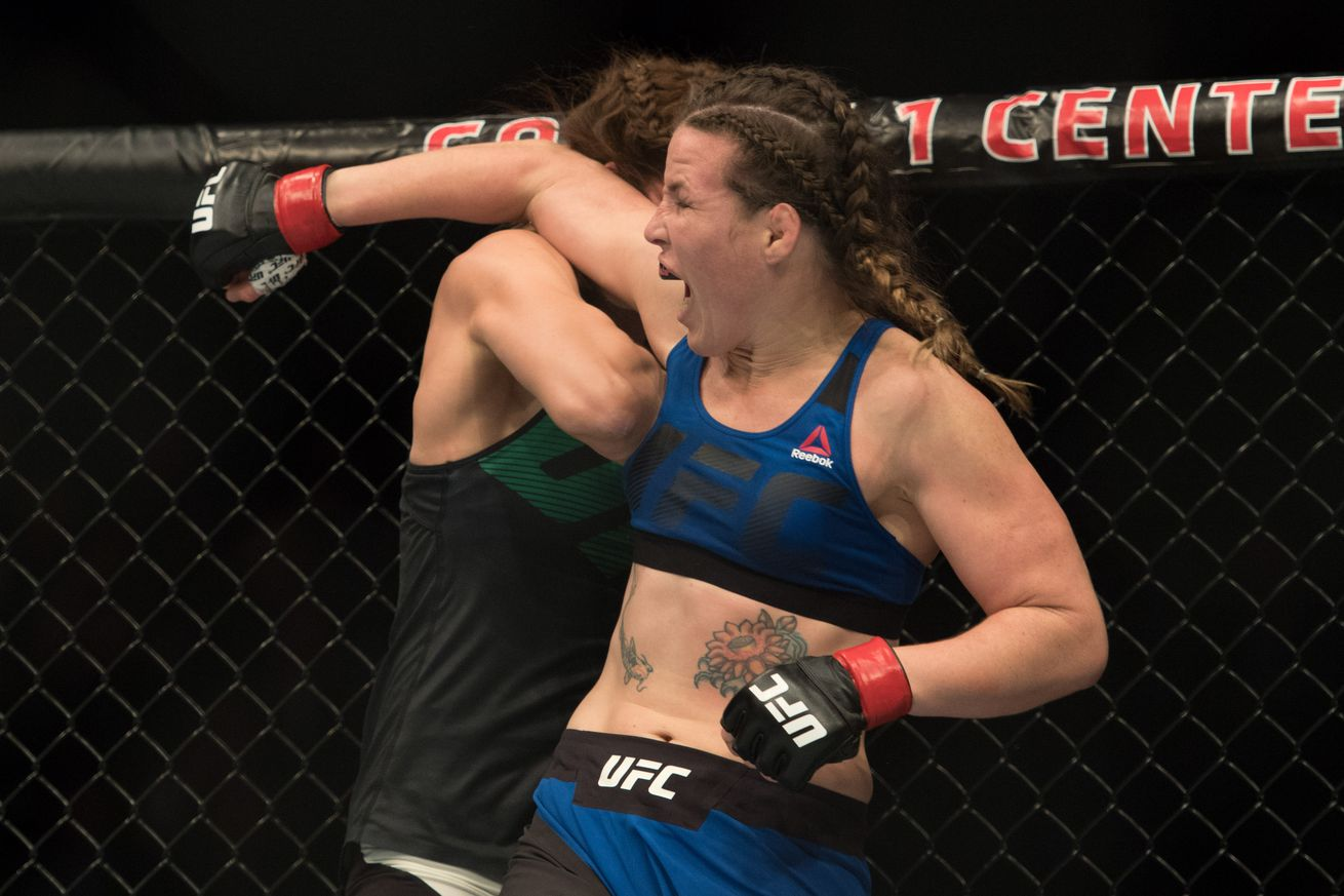 community news, Knockout: Watch Leslie Smith obliterate Amanda Lemos with vicious elbows at UFC Glasgow