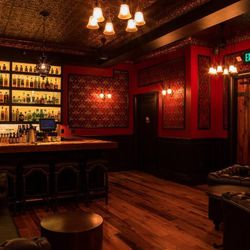 This smaller, private room is available for reservations with a separate entrance on 14th Street.