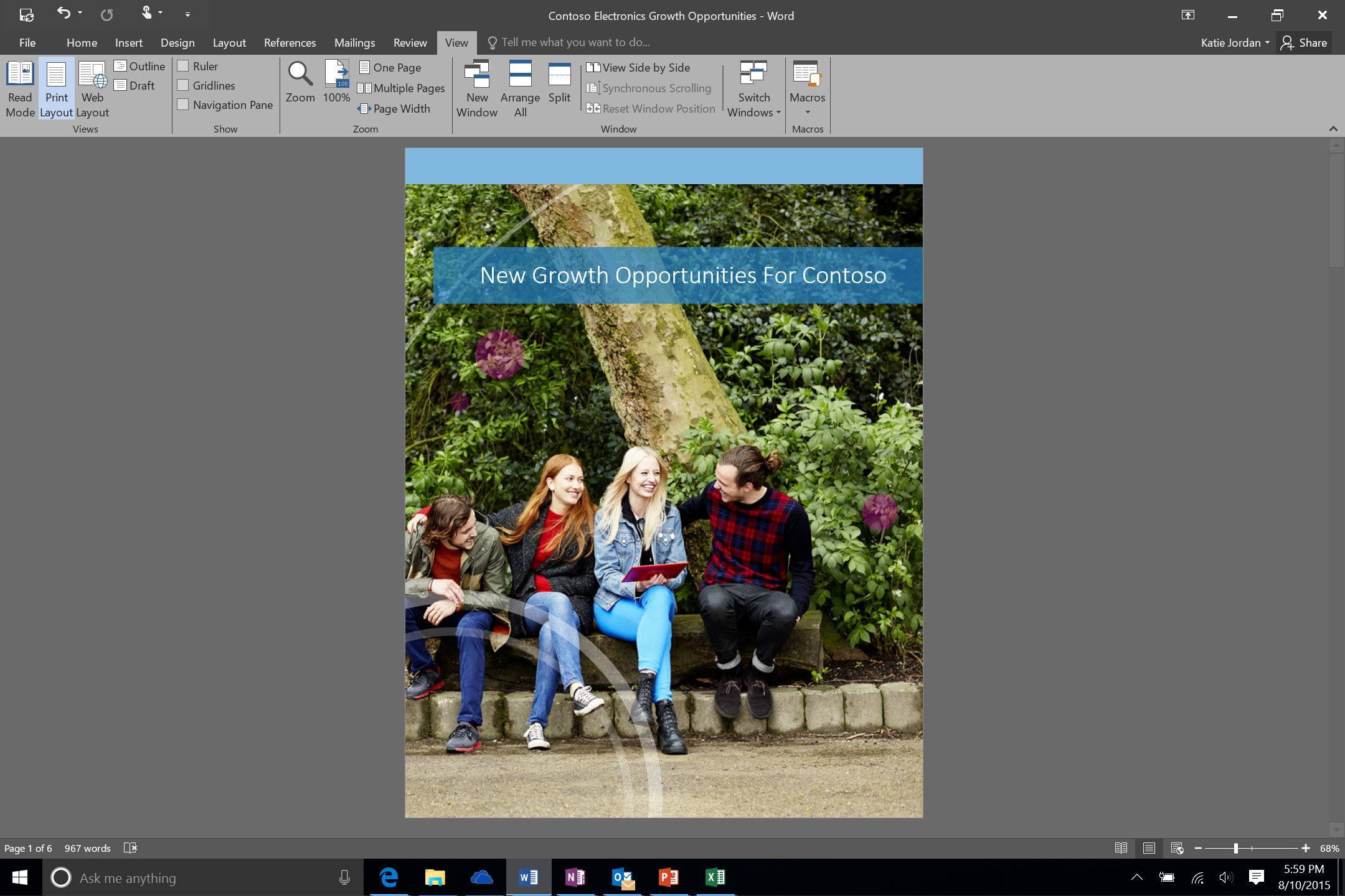 Office 2016 review gray theme