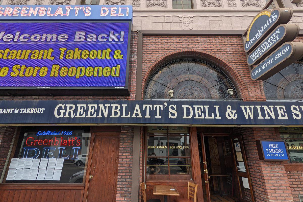 Greenblatt's Deli in Los Angeles.